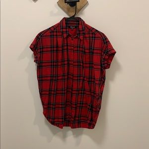 Button up Plaid T-shirt